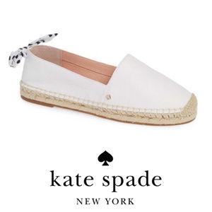 kate spade new york White espadrille flats Sz 7.5